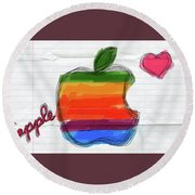 Apple Round Beach Towel