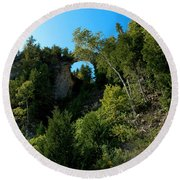 Arch Rock Mackinac Island Round Beach Towel