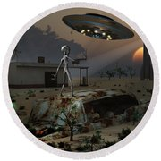 Artists Concept Of A Science Fiction Round Beach Towel