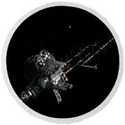 Asteroid Mining Outpost Round Beach Towel