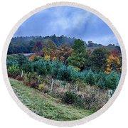 Autumn Colors In The Blue Ridge Mountains Round Beach Towel