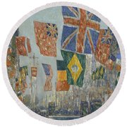 Avenue Of The Allies Round Beach Towel