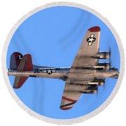 B-17 Bomber Round Beach Towel