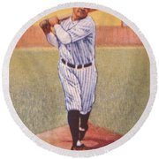 Babe Ruth (1895-1948) Round Beach Towel