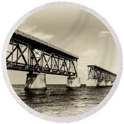 Bahia Honda Bridge Round Beach Towel