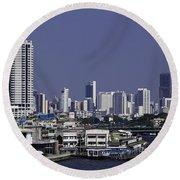 Bangkok Thailand Round Beach Towel