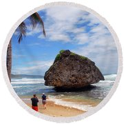 Barbados Round Beach Towel