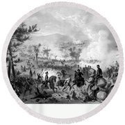 Battle Of Gettysburg Round Beach Towel by War Is Hell Store