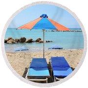 Beach Resort Round Beach Towel
