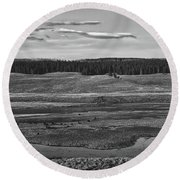 Beautiful Yellowstone Round Beach Towel