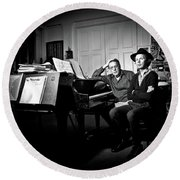 Beck And Philip Glass Photographed By Anna Webber, September 23rd, Round Beach Towel