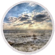 Birling Gap Angel Light Round Beach Towel