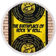 Birthplace Of Rock N Roll Round Beach Towel