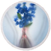 Blue Dream Round Beach Towel