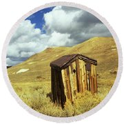 Bodie Outhouse Round Beach Towel