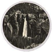 Bridal Veil Falls Round Beach Towel