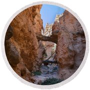 Navajo Trail Natural Bridge Round Beach Towel