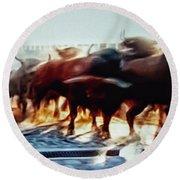 Bull Run Round Beach Towel