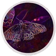 Butterfly Insect Wing Wildlife Bug  Round Beach Towel