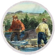 California Gold Rush Round Beach Towel