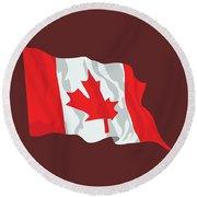 Canada Flag Round Beach Towel
