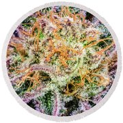 Cannabis Varieties Round Beach Towel