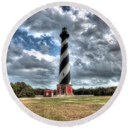 Cape Hatteras Lighthouse, Buxton, North Carolina Round Beach Towel