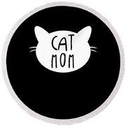 Cat Mom Kitten Apparel Round Beach Towel