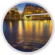 Cathedral Notre Dame - Paris Round Beach Towel