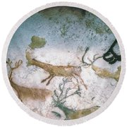 Cave Art Round Beach Towel