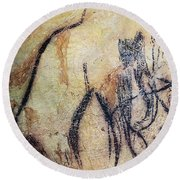 Cave Art: Mammoth Round Beach Towel
