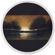 Celestial Place #9 Round Beach Towel