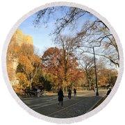 Central Park New York City Round Beach Towel