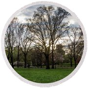 Central Park Views  Round Beach Towel