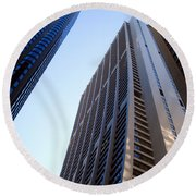 Chase Tower Chicago  Round Beach Towel