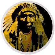 Chief Joseph Round Beach Towel