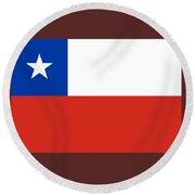 Chile Flag Round Beach Towel