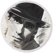 Christopher Lee, Vintage Actor Round Beach Towel