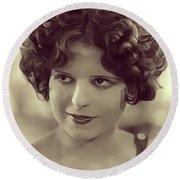 Clara Bow, Vintage Actress Round Beach Towel