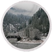 Clearwater River Round Beach Towel
