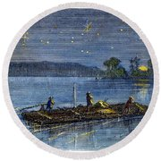 Clemens: Tom Sawyer Round Beach Towel