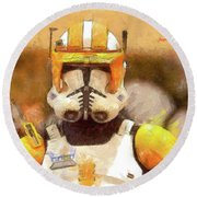 Clone Trooper Commander Round Beach Towel