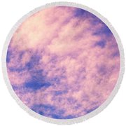 Clouds Round Beach Towel