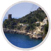 Furore - Coast Of Amalfi Round Beach Towel