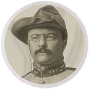 Colonel Theodore Roosevelt Round Beach Towel