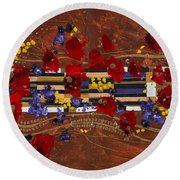 Colourful Abstract Painting Round Beach Towel