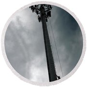 Communications Tower Round Beach Towel