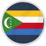 Comoros Flag Round Beach Towel