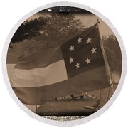 Confederate Camp Round Beach Towel