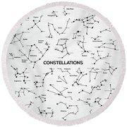 Constellations Round Beach Towel